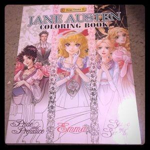 Jane Austen manga style coloring book brand new!